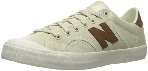Free New Balance Men's PROCTS1 Classic Court Fashion Sneaker, Powder/Carafe, 11.5 D US