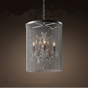 GOWE Crystal Chandelier Lustre Light, K9 Crystal chandelier chains, manor clubhouse lights body color:5 head droplight
