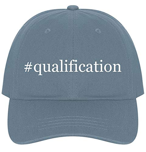 The Town Butler #Qualification - A Nice Comfortable Adjustable Hashtag Dad Hat Cap, Light Blue (M9 Target)