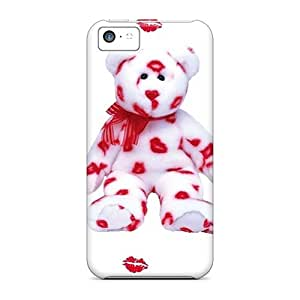 Rugged Skin Cases Covers For Iphone 5c- Eco-friendly Packaging(teddy Love)