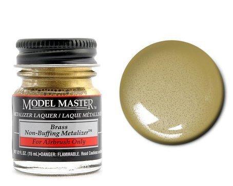 Brass Non Buffing Metalizer Enamel Paint .5oz Bottle