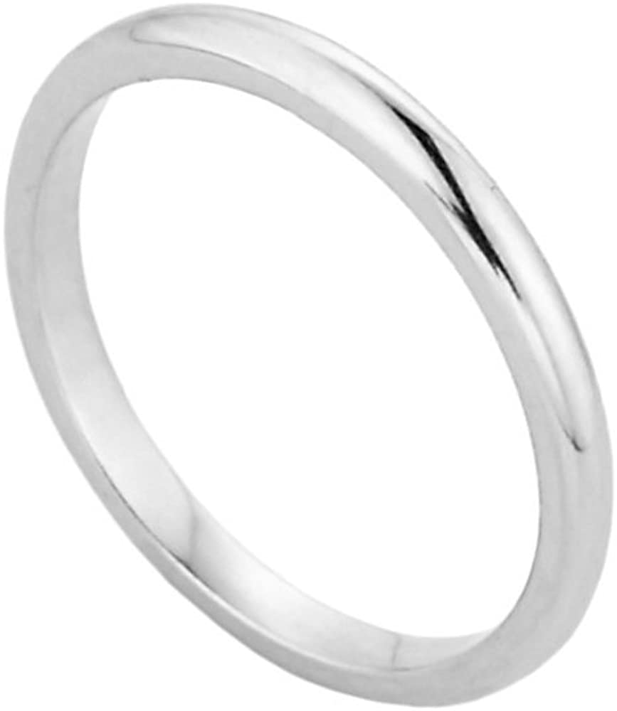Solid 10k White Gold Baby Ring