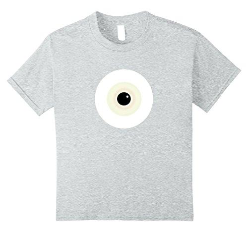Kids Scary Monster Eyeball Halloween Costume Alternative T-Shirt 10 Heather (Great College Guy Halloween Costumes)