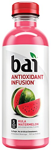Bai Kula Watermelon, Antioxidant Infused Beverage, 18 Fluid Ounce Bottles, 12 count