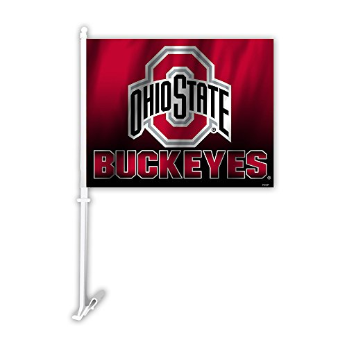 (Fremont Die NCAA Ohio State Buckeyes Ombre Design Car Flag, 11