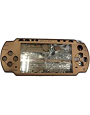 OSTENT Full Housing Shell Faceplate Case Parts Replacement Compatible for Sony PSP 2000 Console - Color Brown