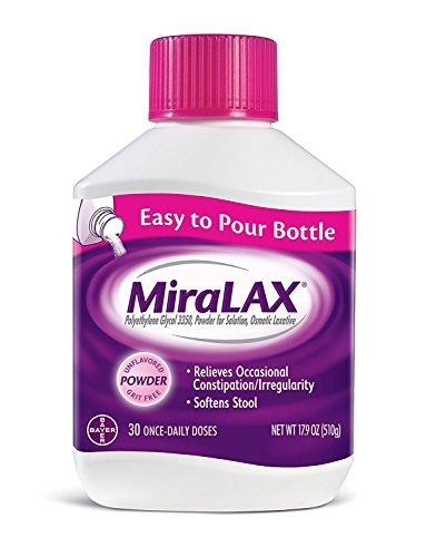 MiraLAX Powder 17.90 oz (2 Pack, 30 Doses)