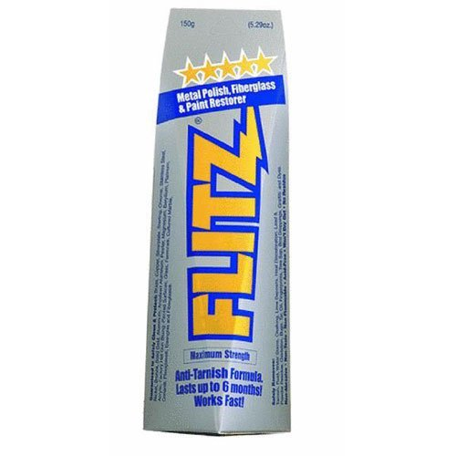 Flitz BU 03515 Metal, Plastic and Fiberglass Polish with Paint Restorer, 5.29-Ounce, Small Plastic and  Fiberglass Polish plus PAINT RESTORER 5.29 oz.