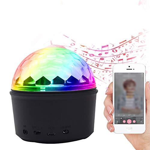 Altavoces portátiles con Bluetooth, mini altavoces inalámbricos de bola de cristal de colores LED con control remoto,...