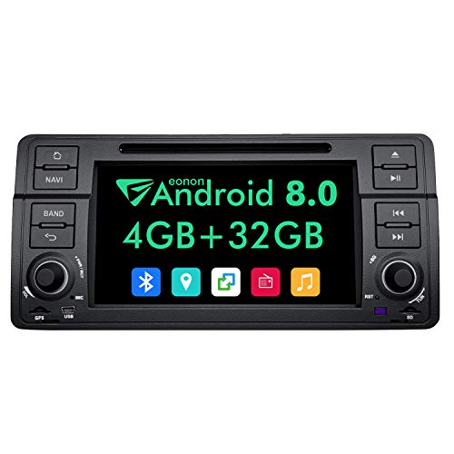 Eonon Android 8.0 Car Navigation Stereo, in Dash Touch Screen Car Stereo Radio, 4GB RAM 32GB ROM Octa-Core Applicable to BMW 3 Series 1999,2000,2001,2002,2003 and 2004(E46) Support Fastboot-GA9150B (Bmw E46 Type)
