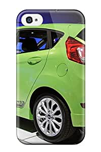 For Iphone 4/4s Premium Tpu Case Cover Ford Fiesta Green Rear View Protective Case