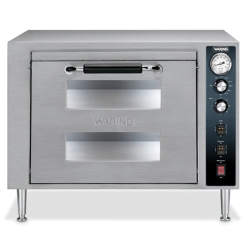Waring Commercial WPO750 Double Deck Pizza Oven with Dual Do