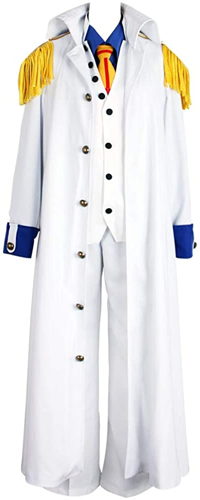 Cosonsen One Piece Marines Admiral Kuzan Admiral Aokiji Cosplay Costume