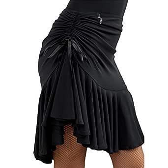 Yying Falda de Baile Latino para Mujer - Falda Corta de Danza ...