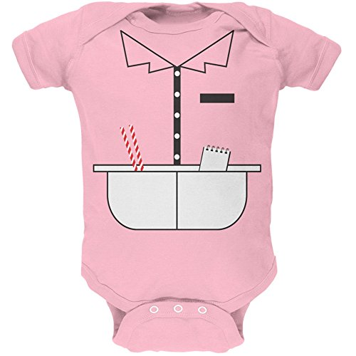 Old Glory Halloween 50's Diner Waitress Light Pink Soft Baby One Piece