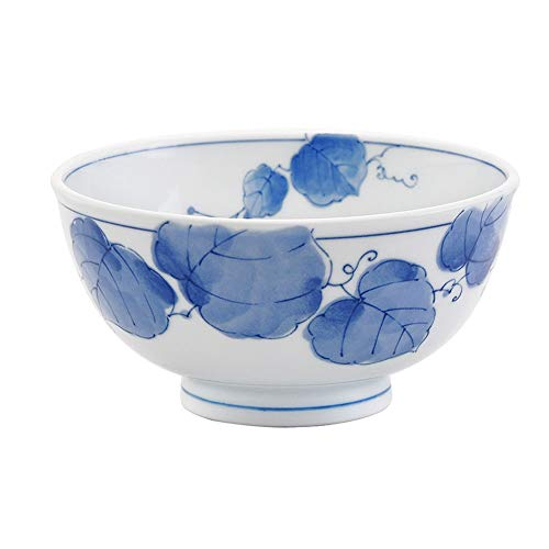 Bowl Rice Bowl, Japan Imported Bowl, Ceramic Tableware, Japanese Style Bowl, Underglaze, Bowl, Soup Bowl, Rice Bowl (Color : 3926909090)