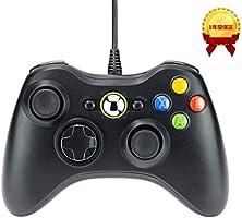 Matasago XBOX360 コントローラー PC コントローラー 有線 ゲームパッド ケーブル Windows PC Win7/8/10 人体工学 二重振動
