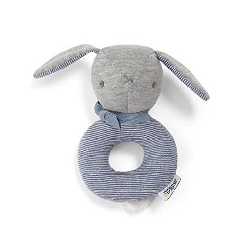 Mamas and Papas Welcome to The World Bunny Rattle, Blue