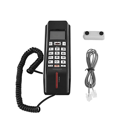 Incoming Call Display Telephone Call Records Check FSK/DTMF Time Regulation Landline Phone for Home(Black)
