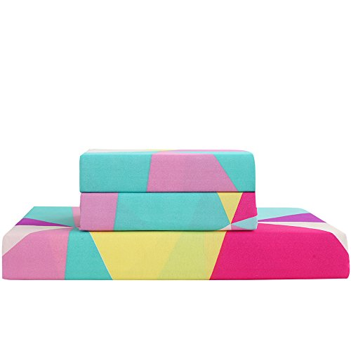 Ntbay 3 Pieces Duvet Cover Set Microfiber Colorful And
