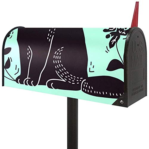 AISSO Weather Resistant PVC Cat Lithograph Magnetic Mailbox Cover Post Letter Box Cover Large Size 21