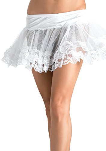 Petticoat Adult Sexy Costume Accessory - Lace Trimmed Petticoat Adult Costume Accessory White - One Size
