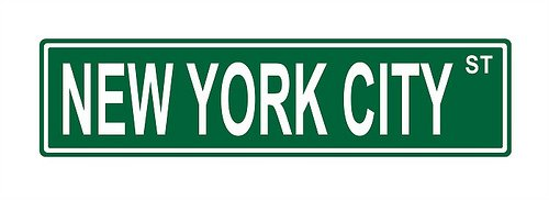 New York City St. Street Sign 24x6 funny joke humor novelty metal aluminum sign (Sign York New City)