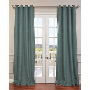 Gorgeous HomeDIFFERENT SOLID COLORS & SIZES (#32) 2 PANELS SOLID THERMAL FOAM LINED BLACKOUT HEAVY THICK WINDOW CURTAIN DRAPES SILVER GROMMETS (TEAL BLUE, 84