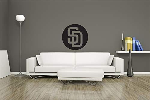 Turnya MLB Logo San Diego Pardres Baseball Team Sign Wall Decor Vinyl - Bathroom San Diego Stores Mirrors