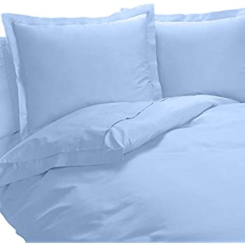 Super Soft & Silky 4 Piece Comforter Set - 100% Viscose from Bamboo, King/California King Size, Blue