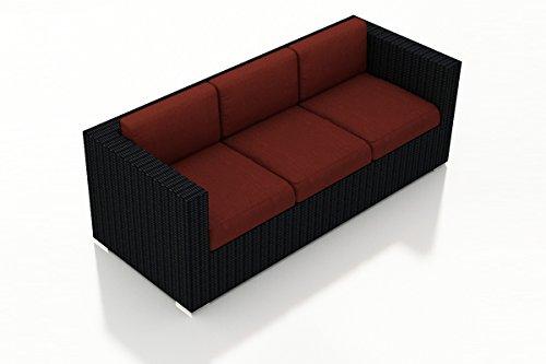 Harmonia Living HL-URBN-CB-S-HN Urbana Sofa, Canvas Henna Cushions