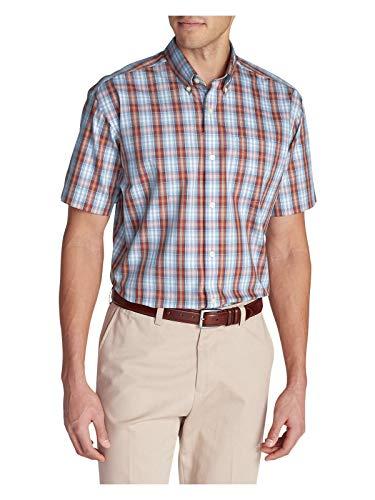 Eddie Bauer Men's Wrinkle-Free Classic Pinpoint Oxford Short-Sleeve Shirt - Seas