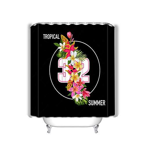 (Xunulyn Extra Long Bath Decorations Bathroom Decor Sets with Hooks Shower Curtain 60