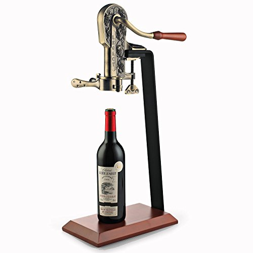 Antique Bronze Legacy Corkscrew with Birch Stand by GIFTS PLAZA