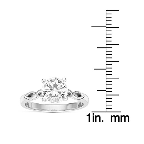 Forever Brilliant Round Cut 7.5mm Moissanite Engagement Ring-size 9,1.50ct DEW By Charles & Colvard by Charles & Colvard (Image #4)