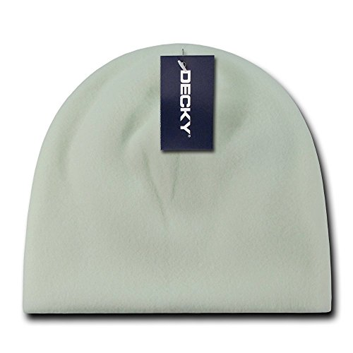 DECKY Polar Fleece Beanie, White -