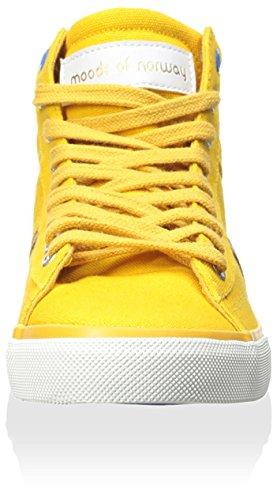 Moods Of Norway Mens Sandnes Hightop Sneaker Arancione Brillante