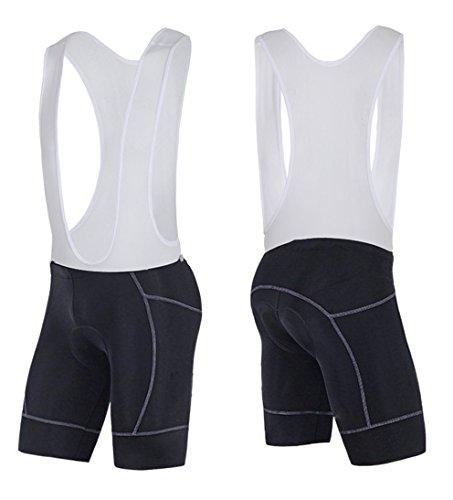 sponeed Gear Biking Bibs Short Racing Cycle Clothing Spin Bike Bicycling Bib Pants Black X-Large (Lycra Suspender)