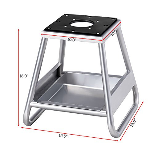 Goplus Motorcycle Motocross Dirt Bike Panel Stand Hoist Maintenance Lift Jack 1000LB Capacity (with Removable Oil Pan) by Goplus (Image #2)