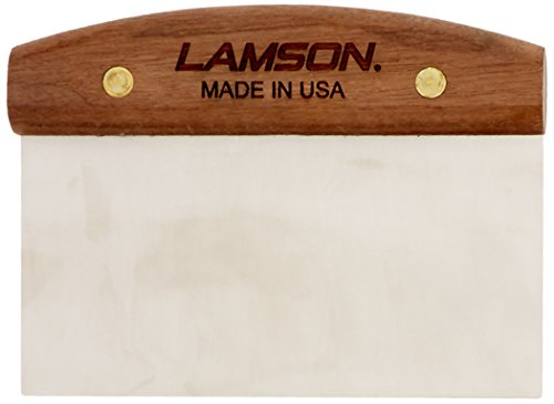 "Lamson  Dough Scraper, 3"" x 6"" Stainless Steel with Riveted Walnut Handle made in New England"