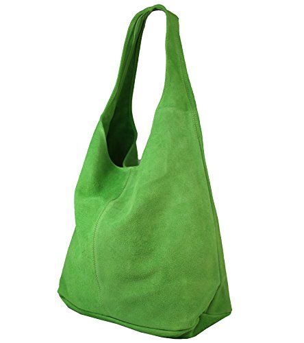Ante para in Verde FreyFashion mujer al Italy Made Rana de hombro Bolso 5wn66xH80q
