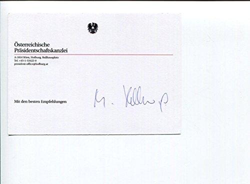 Heinz Fischer President of Austria Signed Autograph