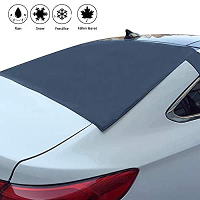 Rear Windshield Snow Cover - Universal Waterproof Rear Windshield Protector Cover - Car Windshield Snow Cover Magnetic Ice Snow Frost Dust Guard - Snow Cover for Auto Rear Windshield Wipers Protector