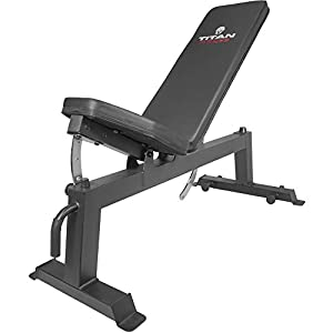 Titan Fitness Adjustable Flat Incline Weight Bench 650 lb Rated Capacity