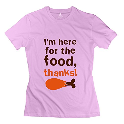 Cute Im FOOD Thanks Thanksgiving Funny Women's T Shirt Pink Size S