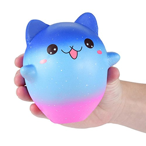 Cartoon Galaxy Kitty - Franterd Stress Reliever Kawaii Toy - Scented Slow Rising Squishy Simulation Gift - Kids &Adults Decompression Squeeze Toys - Educational Hop Decorative Props -