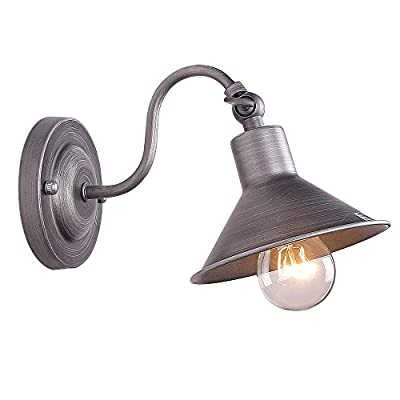 Anmytek Wall Light Fixture,Industrial Retro Rustic Loft Antique Wall Lamp Edison Vintage Pipe Wall Sconce Decorative Fixtures Lighting Luminaire
