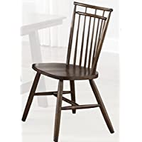 Liberty Furniture 38-C4000S Creations II Spindle Back Side Chair, 20 x 22 x 36, Black and Tobacco