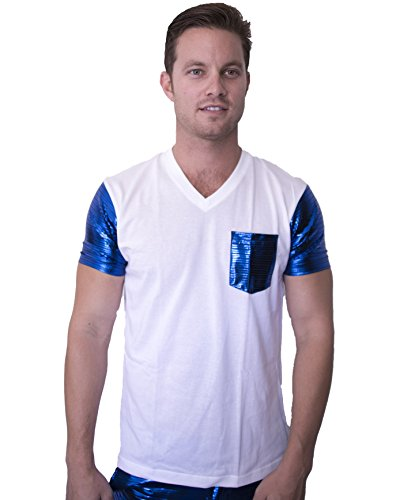 Electro T-Shirt by Electric Styles (XX-Large, White with Blue Electro)