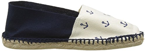 Blu Basse Espadrillas Adulto Cala Unisex Ab Classique Broderie Ancre 2 TYgqnwBxf